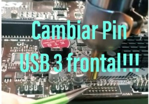 Pin USB 3 frontal Partido en la placa base